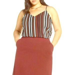 Halogen Black Multi Stripe Camisole